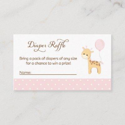 Giraffe Baby Shower Diaper Raffle Tickets Enclosure Invitations
