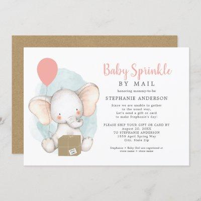 Girl Baby Sprinkle by Mail Invitation