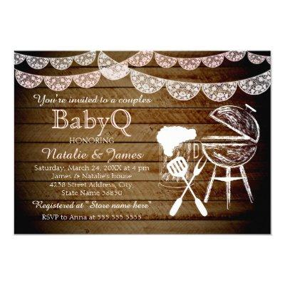 Girl Couples BabyQ BBQ Invitations