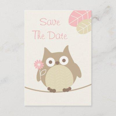 Baby girls save the date baby shower invitations baby shower girl owl baby shower save the date filmwisefo