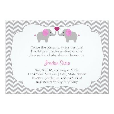 Girl Twins Invitations