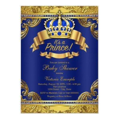 Gold Crown Royal Blue Prince Boy