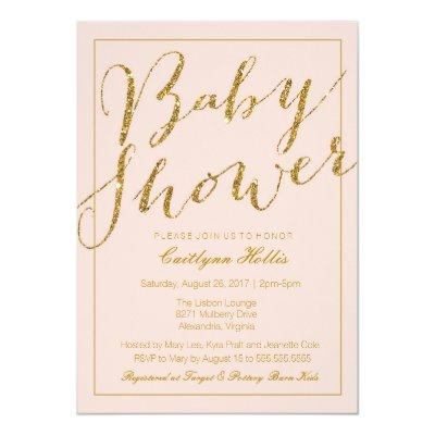 glam baby shower invitations | baby shower invitations,