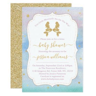 Gold Glitter Twin Mermaids