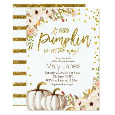 Gold pumpkin Invitations
