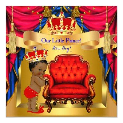 gold red chair blue red prince invitations