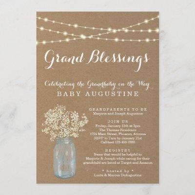 Grandparents, Grandmother, Grandbaby Baby Shower Invitation