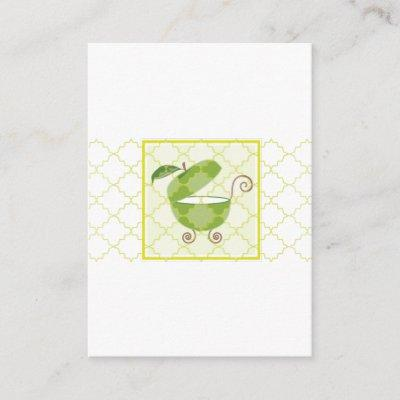 Green Apple Baby Carriage | Bring a Book Enclosure Card