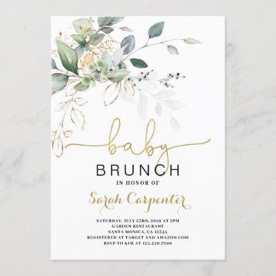 Greenery Baby Shower Brunch invitation
