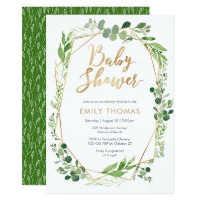 Greenery Baby Shower Invitation - gender neutral