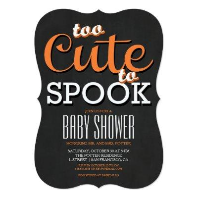 Halloween Baby Shower Party Invitations