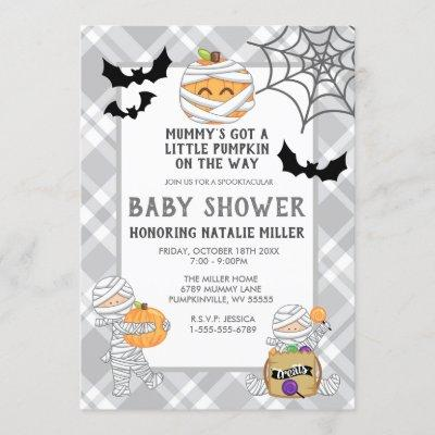 Halloween Mummy Baby Shower Invitation