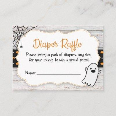 Halloween Spooky Baby Shower Diaper Raffle Ticket Enclosure Card