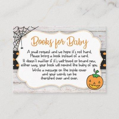 Halloween Theme Baby Shower Book Request Card