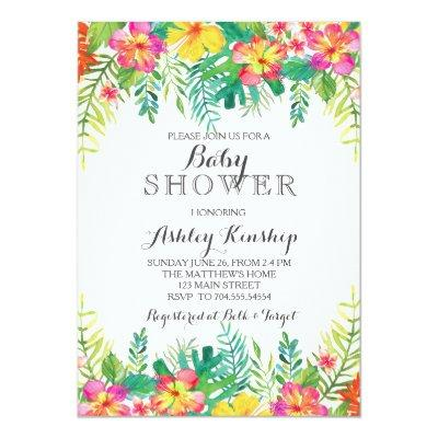 hawaiian baby shower baby shower invitations | baby shower invitations, Baby shower invitations
