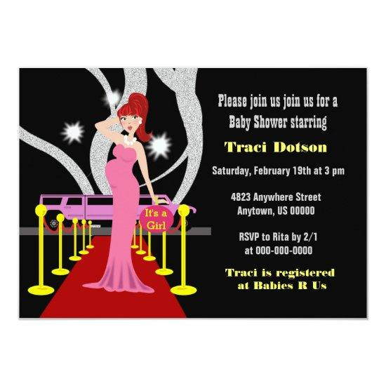 Hollywood Baby Shower Invite