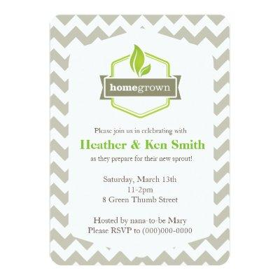 Home Grown Baby Shower Invitations