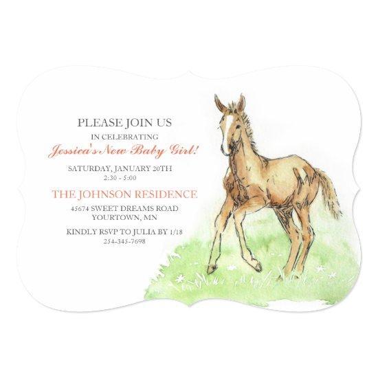 Horse foal baby shower invitations horse foal filmwisefo