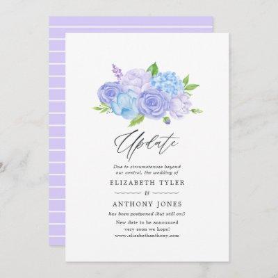 Hydrangea Blue and Light Lavender Wedding Update I Invitation