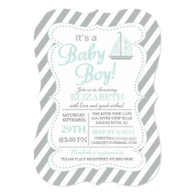 It's a Baby Boy Sailboat Nautical