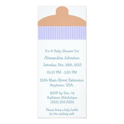 Baby bottle boys shower invitations baby shower invitations baby its a boy baby bottle filmwisefo Gallery