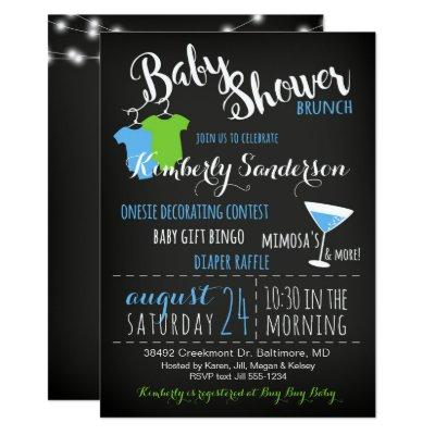 It's a Boy  Brunch Book Invitations