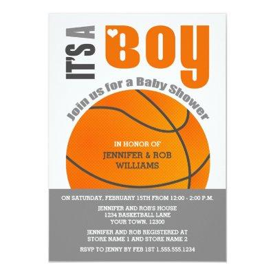 It's a Boy Basketball Couples Baby Shower Invitation