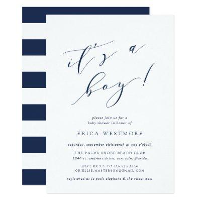 It's a Boy | Calligraphy Baby Shower Invitation