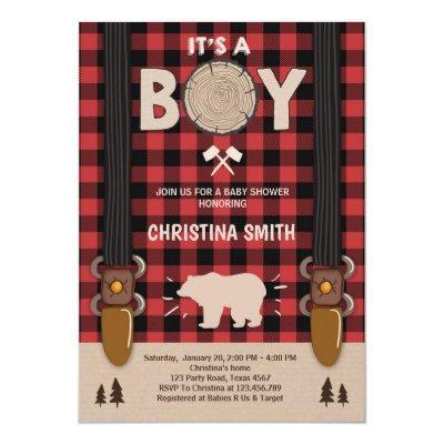 It's a boy Lumberjack  boy
