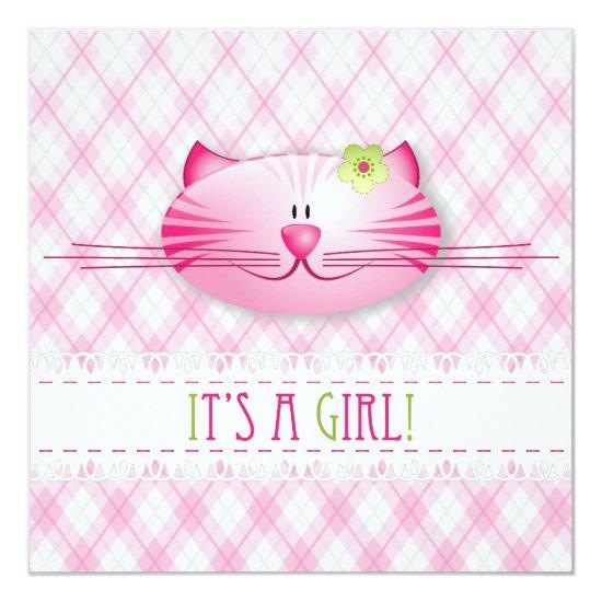 it s a girl announcement card baby shower invitations