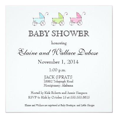 It's Triplets Baby Shower Invitation