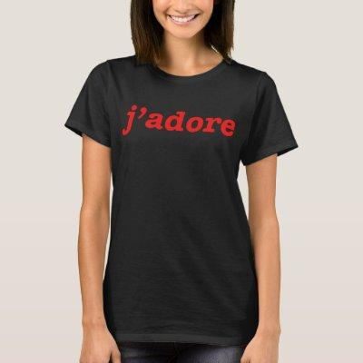 J ADORE RED RETRO INDIE HIPSTER LADIES UNISEX SLOG T-Shirt