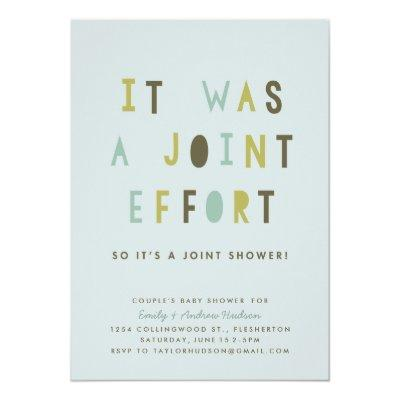 Joint Effort Couple's Invitations