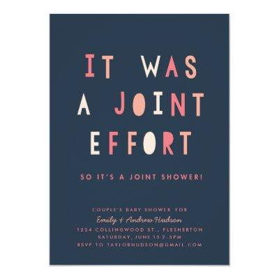 Joint Effort Couple's Invitations Navy