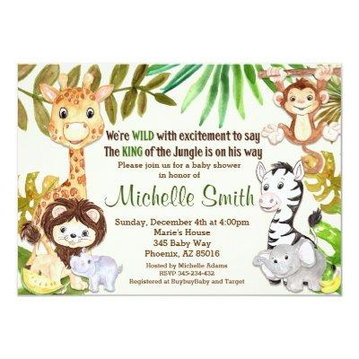 Jungle , Safari Invitations
