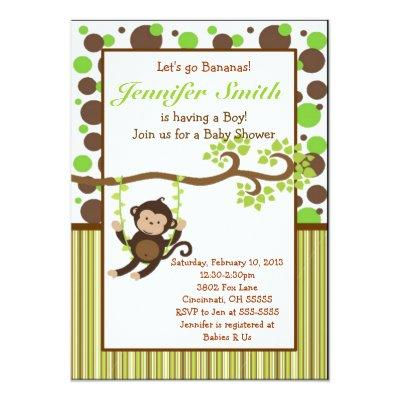 Jungle Monkey Invitations