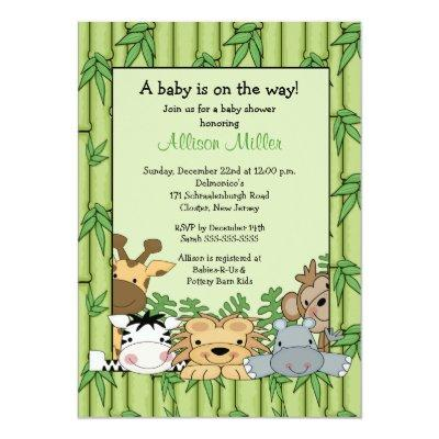 Jungle Safari Baby Shower Invitation