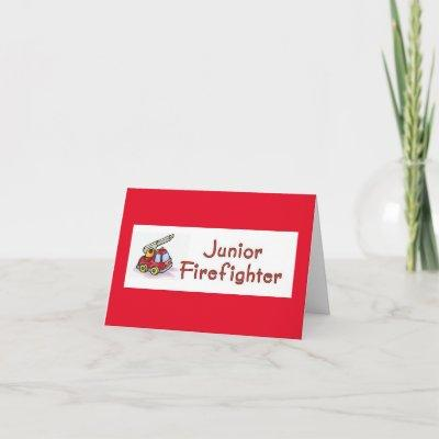 Junior Firefighter Baby Shower Invitations