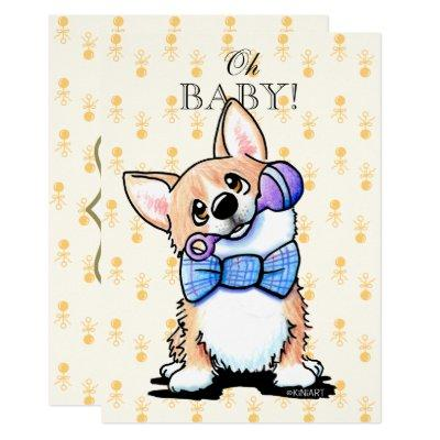 KiniArt Corgi Baby Shower Invitation