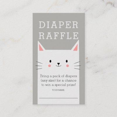 Kitty Cat Baby Shower Diaper Raffle Ticket Enclosure Card