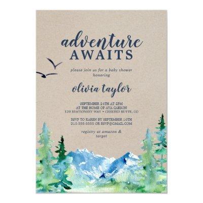 Kraft Rocky Mountain Adventure Awaits Baby Shower Invitation