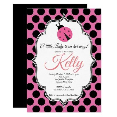 Lady Bug Baby Shower Invitations