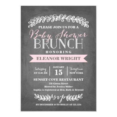 Laurel Brunch | Baby Shower Invitations