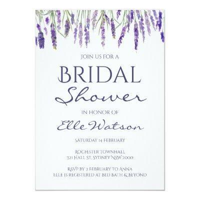 Lavender Bridal Shower Invitation, Wedding Invitations