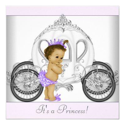 Lavender Purple Princess Baby Shower Invitation