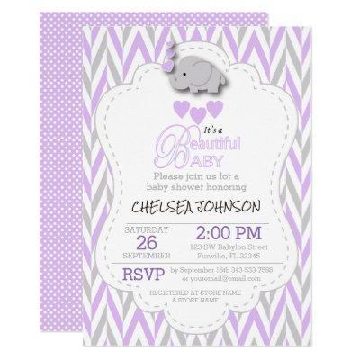 Lavender, White & Gray Elephant