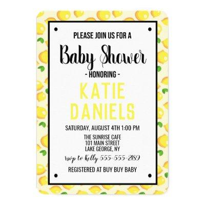 Lemon Baby Shower Invitations