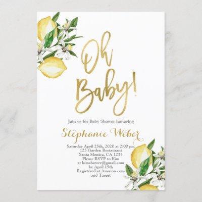 Lemons Baby shower Invitation