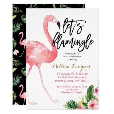 Let's Flamingle Bridal Shower Invitations