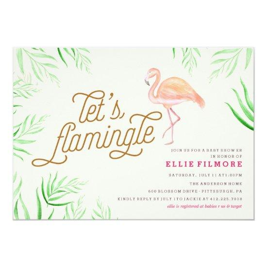 letu0027s flamingle flamingo invitations